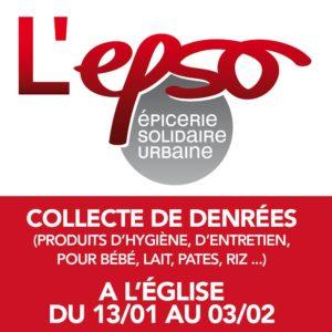 Collecte de denree EPSO epicerie montpellier